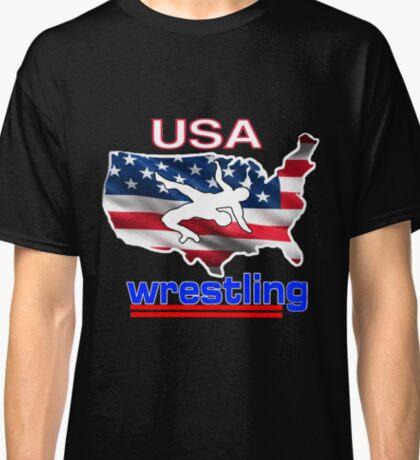 USA Flag Team Wrestling Classic T-Shirt