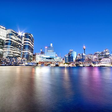 Moonrise Over Barangaroo by RodKashubin