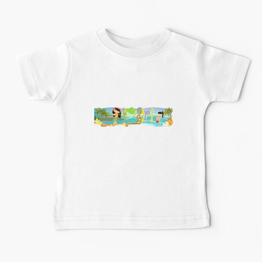 TropoGirl - Swaying and Playing in Paradise Baby T-Shirt