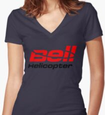 BELL HELICOPTER TEXTRON Women's Fitted V-Neck T-Shirt