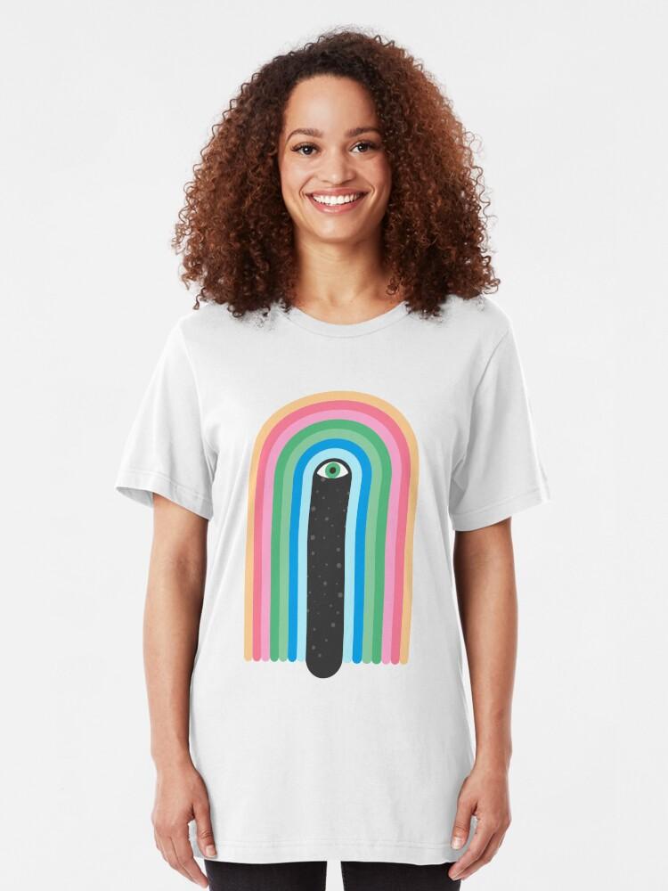 Alternative Ansicht von Galaxy Tränen Slim Fit T-Shirt