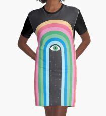 Galaxy Tears Graphic T-Shirt Dress