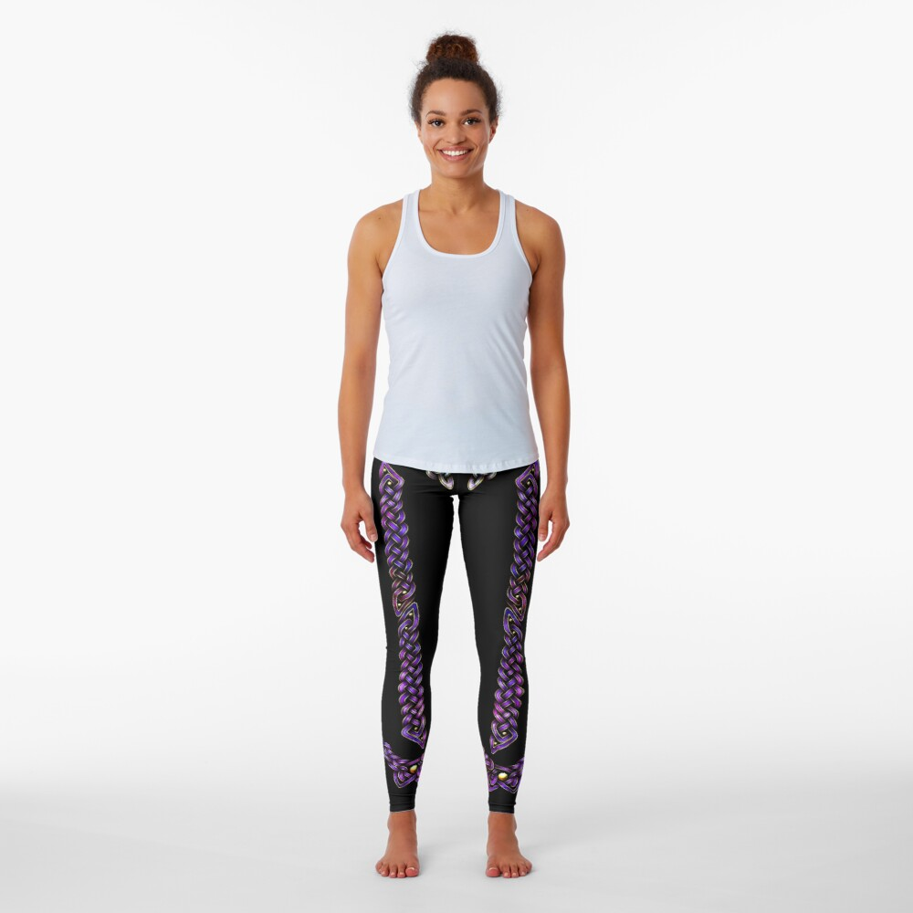 Celtic Knotwork - Gold and Galaxy Leggings