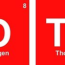 'Clothes' periodic table elements red by flashman