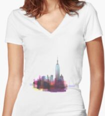 New york, NYC city ! Women's Fitted V-Neck T-Shirt