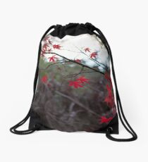 Autumn Glow (Red) Drawstring Bag
