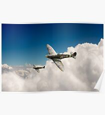 222 Squadron Spitfires Poster