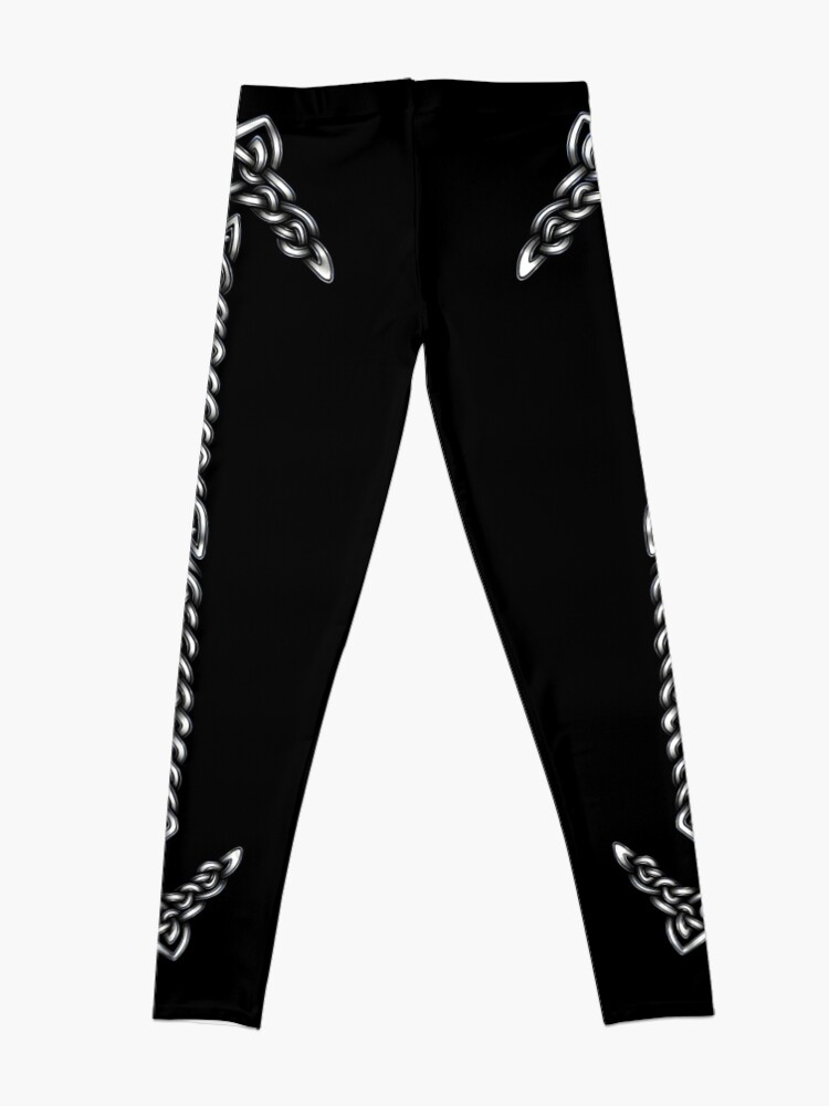 Alternate view of Celtic Knotwork - Silver Leggings