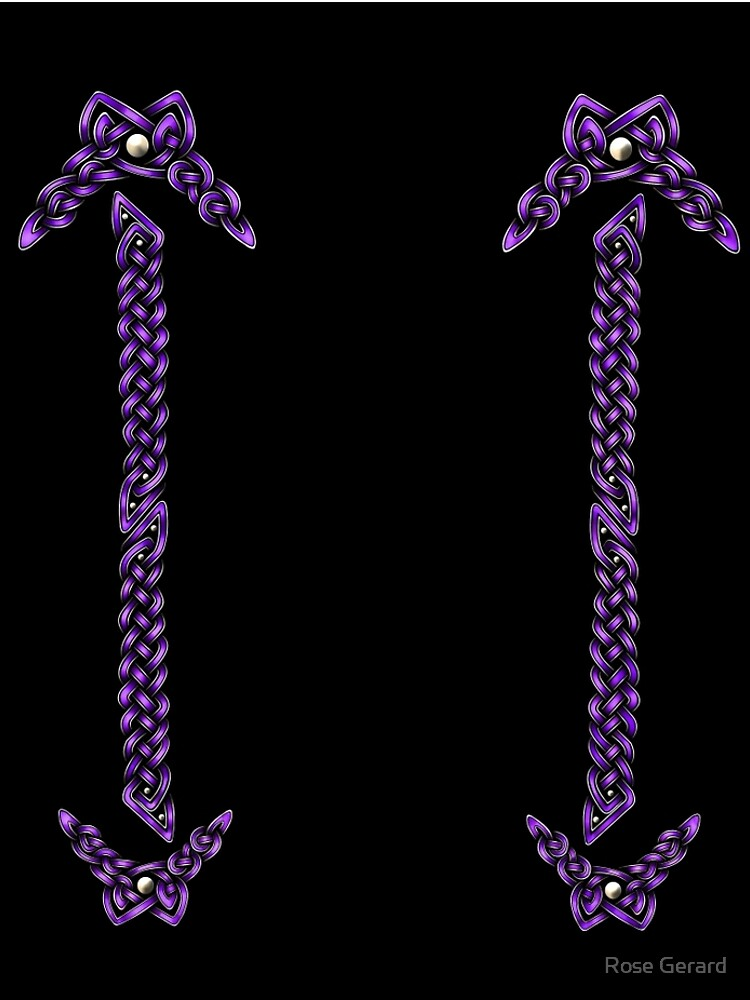 Celtic Knotwork - Silver and Purple by arkadyrose