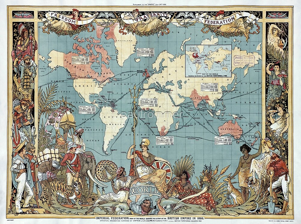 World map-British Empire-1886 by paulrommer