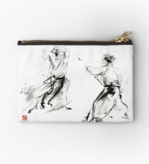 Aikido enso circle martial arts sumi-e original ink painting artwork Studio Pouch