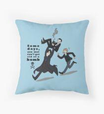 Sherlock Bomb Throw Pillow