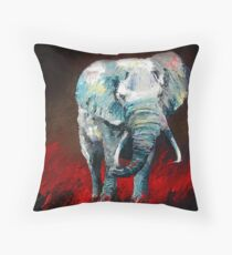 Stomping Purple & Gold by Thomas Andrew Throw Pillow