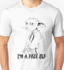 Dobby has no master, Dobby is a free elf! Unisex T-Shirt