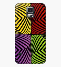 Colorful optical illusion with squares  Case/Skin for Samsung Galaxy