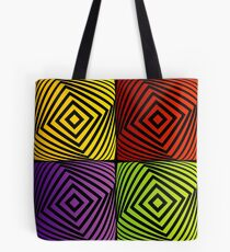 Colorful optical illusion with squares  Tote Bag