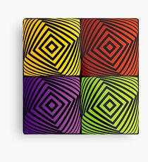 Colorful optical illusion with squares  Metal Print