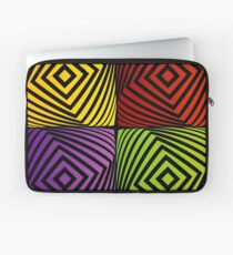 Colorful optical illusion with squares  Laptop Sleeve