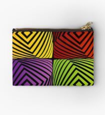 Colorful optical illusion with squares  Studio Pouch