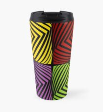 Colorful optical illusion with squares  Travel Mug
