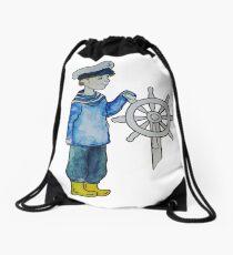 The little captain Drawstring Bag