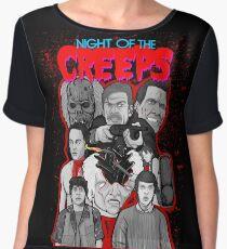night of the creeps collage Women's Chiffon Top