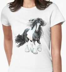 Prince, Gypsy Vanner Horse Women's Fitted T-Shirt
