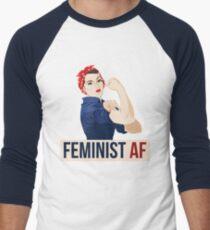 Feminist AF rosie riveter Men's Baseball ¾ T-Shirt