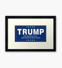 Trump - Make America Great Again Framed Print