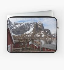 Red Fishing Huts Laptop Sleeve