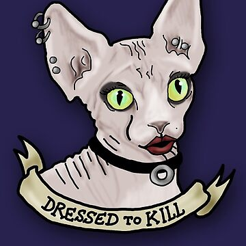 Dressed to Kill Sphynx by theneitherworld