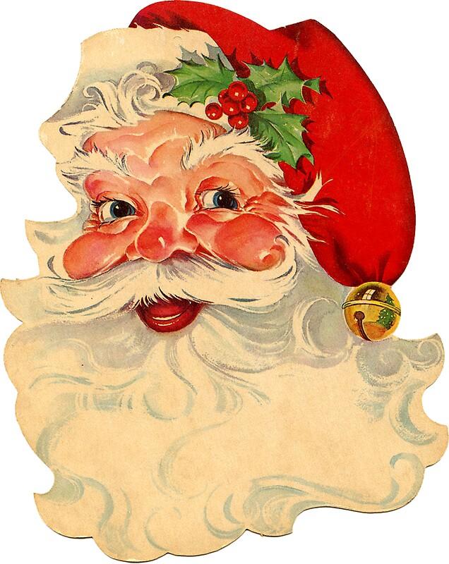 Retro Vintage Christmas Santa Claus Face\
