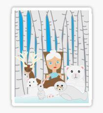Mother Nature Winter Scene Sticker