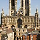 Lincoln Cathedral and precinct by Mark Baldwyn