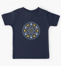 SACRED GEOMETRY - METATRONS CUBE - FLOWER OF LIFE - SPIRITUALITY - YOGA - MEDITATION Kids Tee