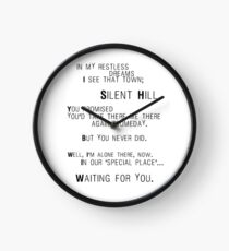 Silent Hill - Mary's Letter (Text) Clock