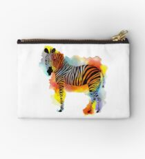 Denken Sie Zebras - Rainbow Watercolor Zebra Studio Clutch