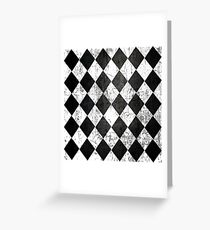 Black Diamonds Greeting Card
