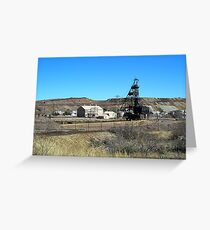 Campbell Mine Header - Bisbee Arizona Greeting Card