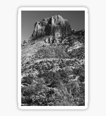 Mountain landscape in Big Bend National Park, Texas Sticker