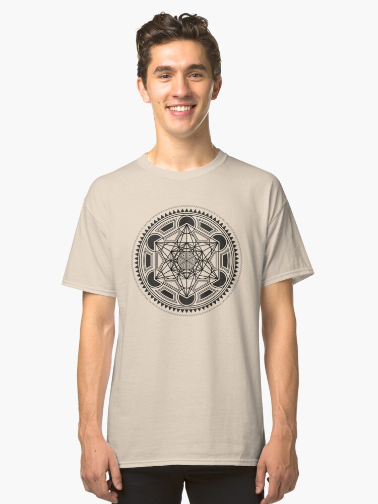 SACRED GEOMETRY - METATRONS CUBE - FLOWER OF LIFE - SPIRITUALITY - YOGA - MEDITATION Classic T-Shirt Front