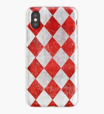 Red and White Diamonds  iPhone Case/Skin