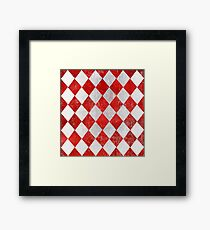 Red and White Diamonds  Framed Print