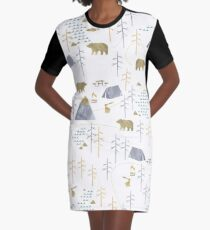In the Woods Graphic T-Shirt Dress