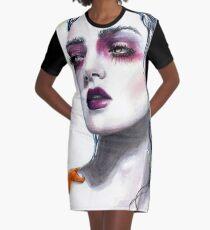 Lorelei mermaid painting Graphic T-Shirt Dress