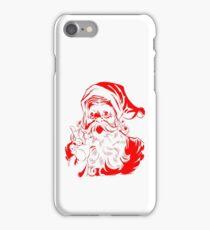 Santa Claus Vintage Retro Christmas Design iPhone Case/Skin