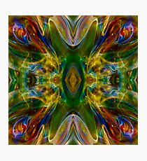 Green Flame Nebula Psychedelic Abstract Photographic Print