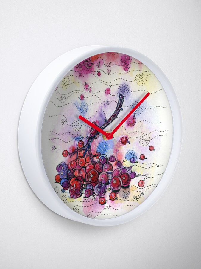 Alternate view of Winter Rowan Berries Clock
