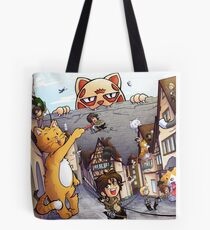 Attack on Kitten! Tote Bag