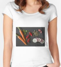 Fresh organic vegetables for a healthily cooking Women's Fitted Scoop T-Shirt